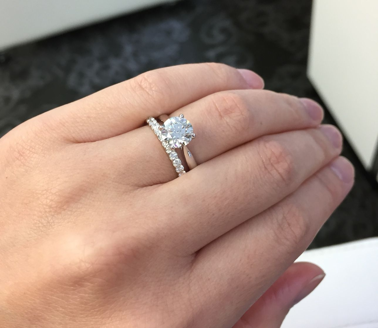 Show Me Your Solitaire Engagement Ring W Wedding Band Weddingbee Page 11 Diamond Wedding Bands Solitaire Engagement Ring Wholesale Engagement Rings