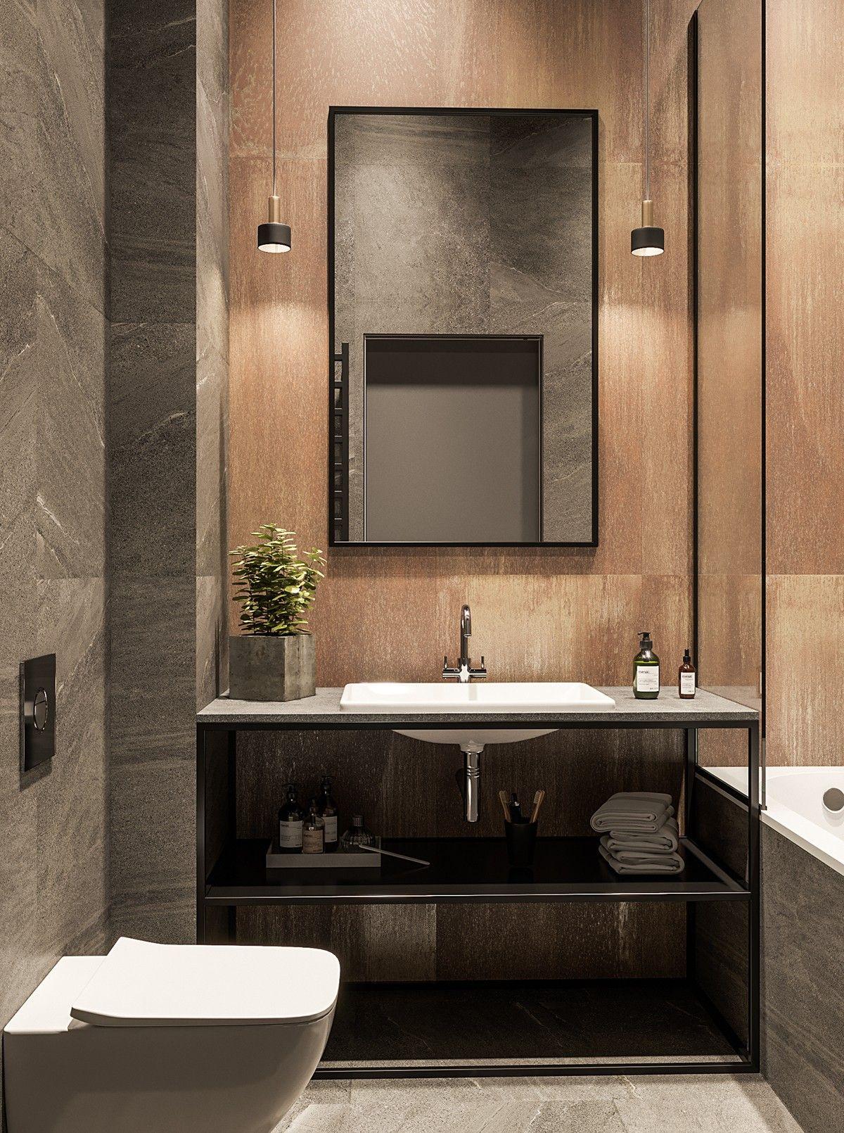 Banos Estilo Industrial Banheiros Pequenos Modernos Banheiro