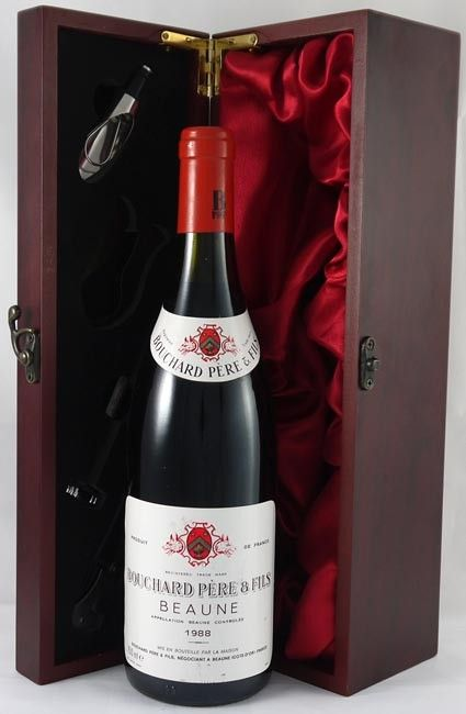 1988 Beaune Bouchard Pere Fils Vintage Wine Wines Red And White Roses