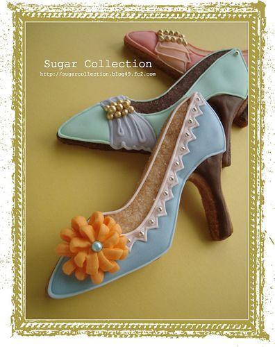 High heel shoe cookies by JILL's Sugar Collection, via Flickr )