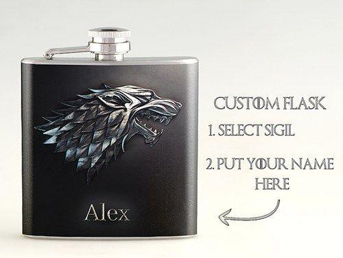 Flask Game of Thrones House Targaryan 8 oz