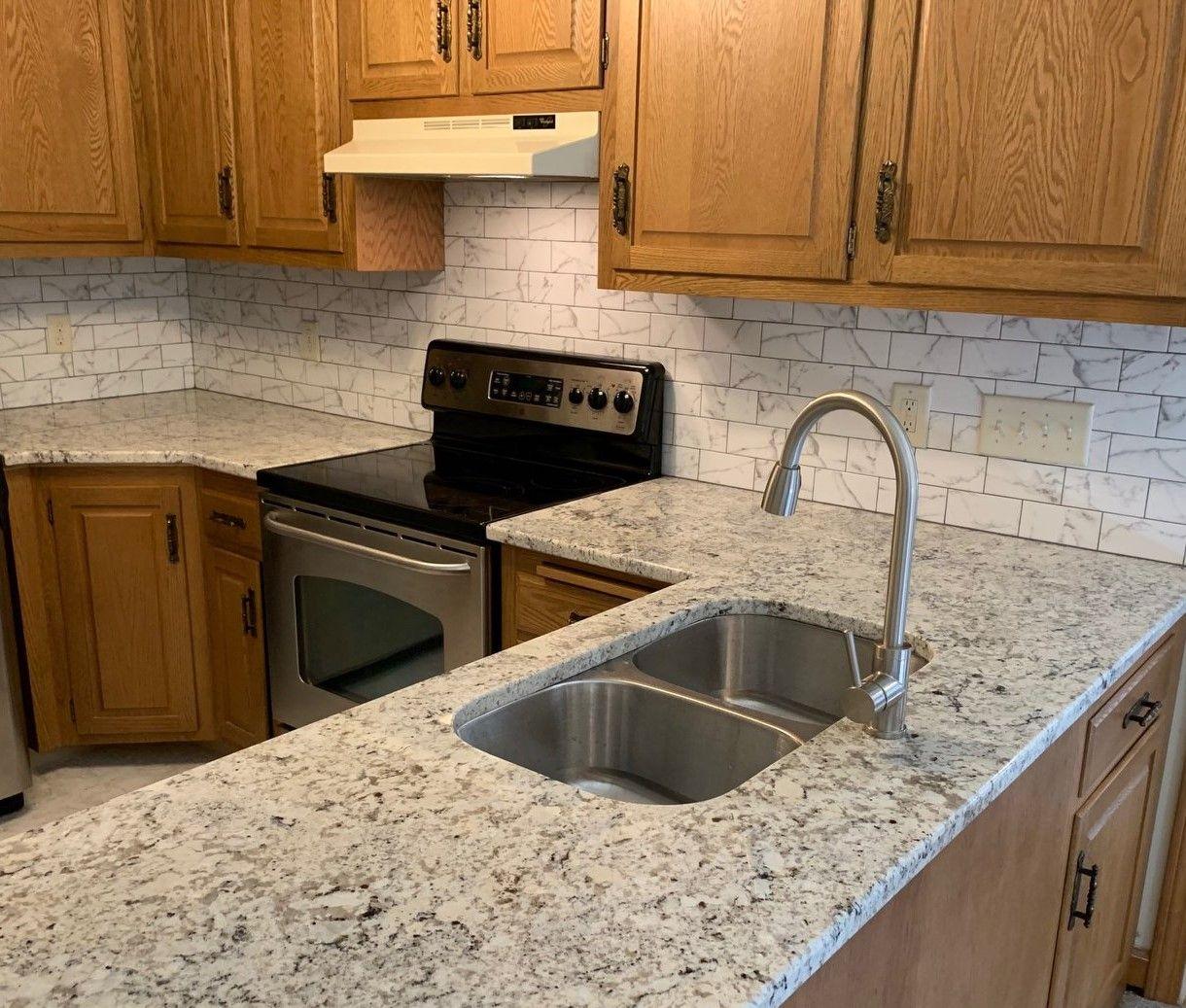 White Ice Granite Countertops Kitchen