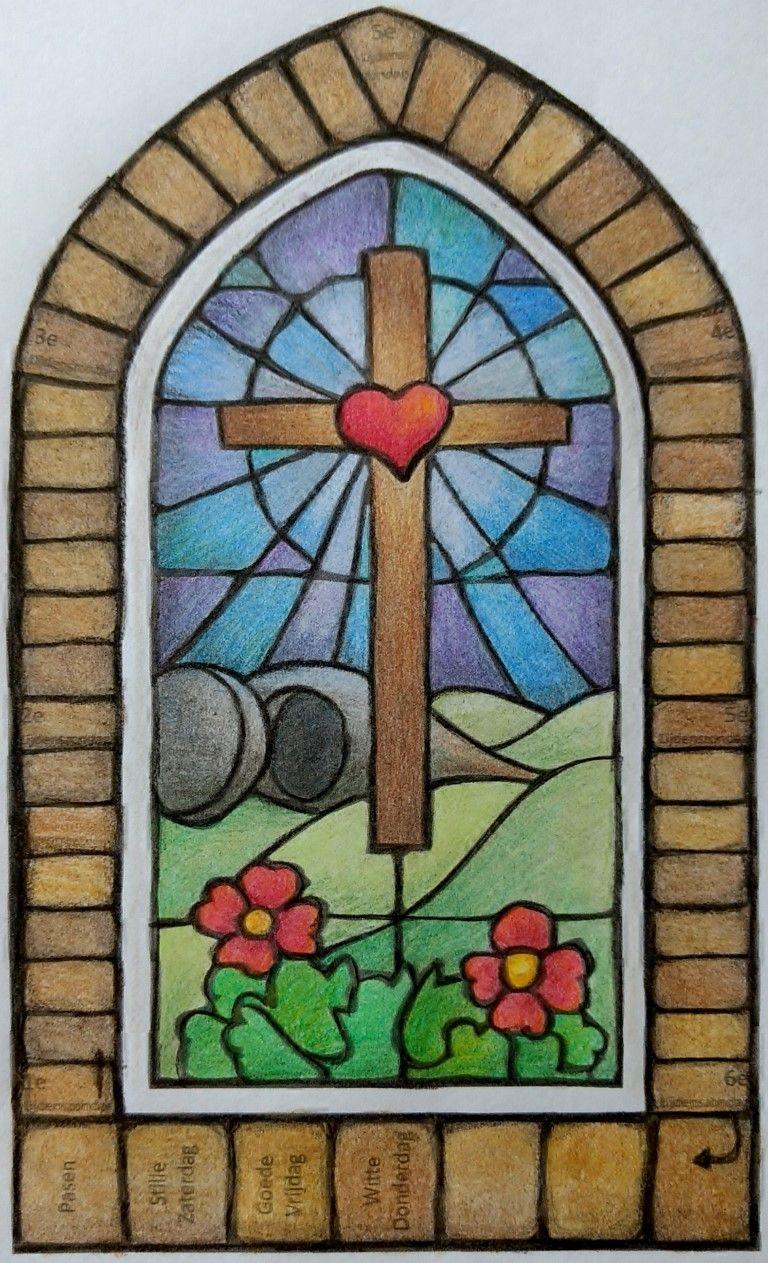 Kleurplaat Lijdenstijd Kalender Medium Jpg 768 1263 Pasen Kleurplaten Paasfeest