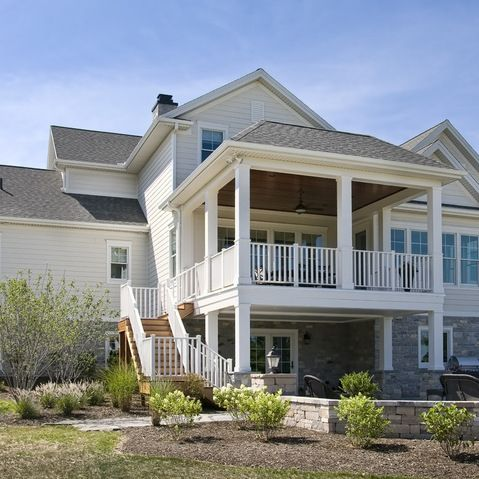 2 story deck design ideas pictures remodel and decor for 3 story deck design