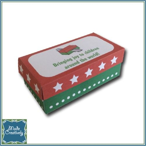 Digital Packing Party Mini Shoebox- This adorable mini shoebox is a great addition to your shoebox packing party this year! Follow the easy step-by-step instructions (included) to assemble the box. With a lid that hinges open, it is a great party favor and can be personalized with custom wording on the top of the box. Create yours today!
