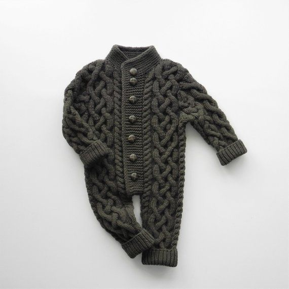 b6c85de2feafc 0-6 mos Baby knit overall Wool baby jumpsuit Knitting baby clothes Newborn  romper Unisex wool overal
