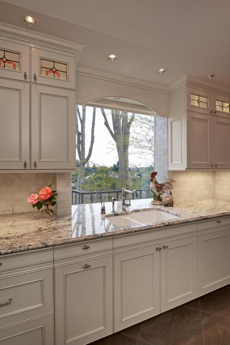 Gorgeous And Luxury White Kitchen Design Ideas 25 Window Arch White Kitchen Design Kitchen Cabinets Decor Home Kitchens