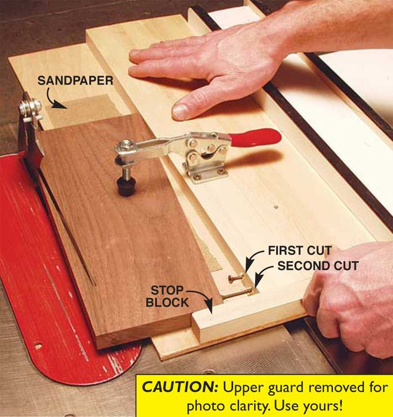 Aw Extra 112113 Tablesaw Tapering Jig Tablesaw Jig Pinterest
