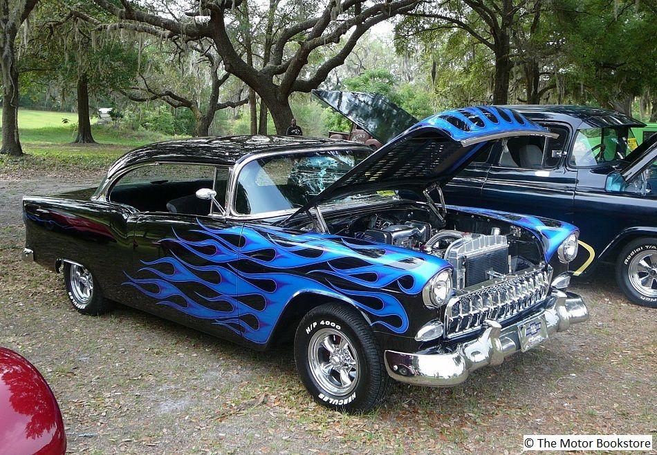 1955 custom Chevy Bel Air. Guitars & Cars swap meet and