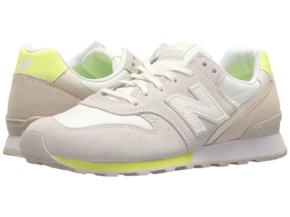 0559de9a8b12d New Balance Classics WL696v1 Women's Running Shoes Sea Salt/Soler Yellow