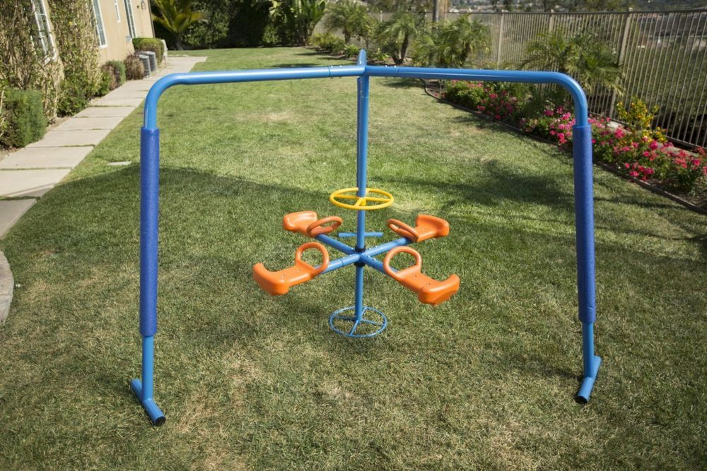 Merry Go Round Outdoor Playset Gym Swing Around 4 Person Kids