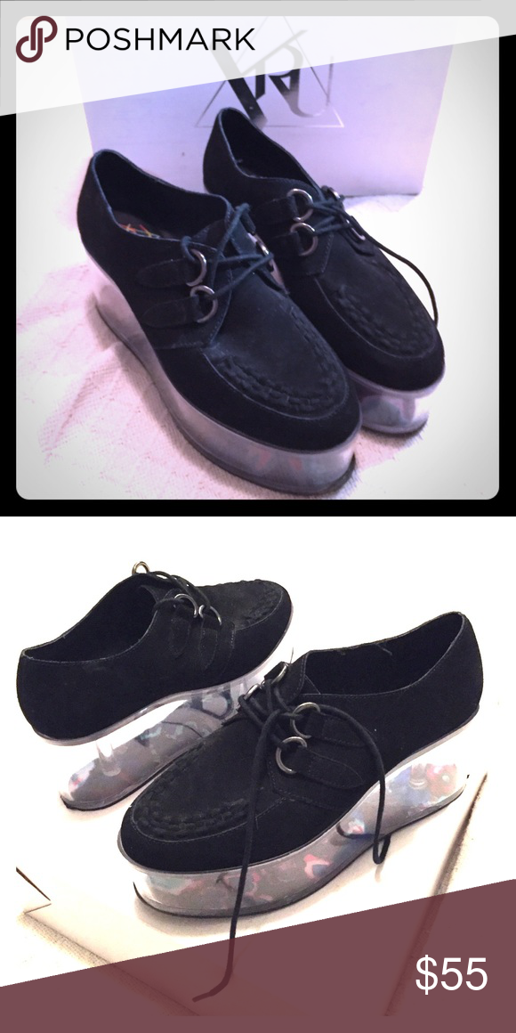 fc62449a6479 YRU qloud kreep black creepers platforms size 8 Still in good shape  platforms from YRU. size 8 comfy and pretty. Faux suede material.