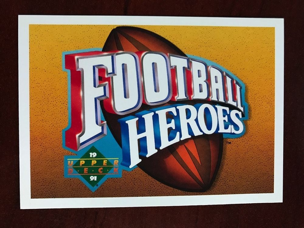1991 upper deck joe namath football heroes joe