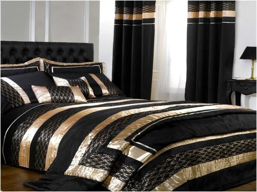 Resemblance of black and gold bedding sets for adding luxurious bedroom decors bedroom design - Black white and gold bedroom ...