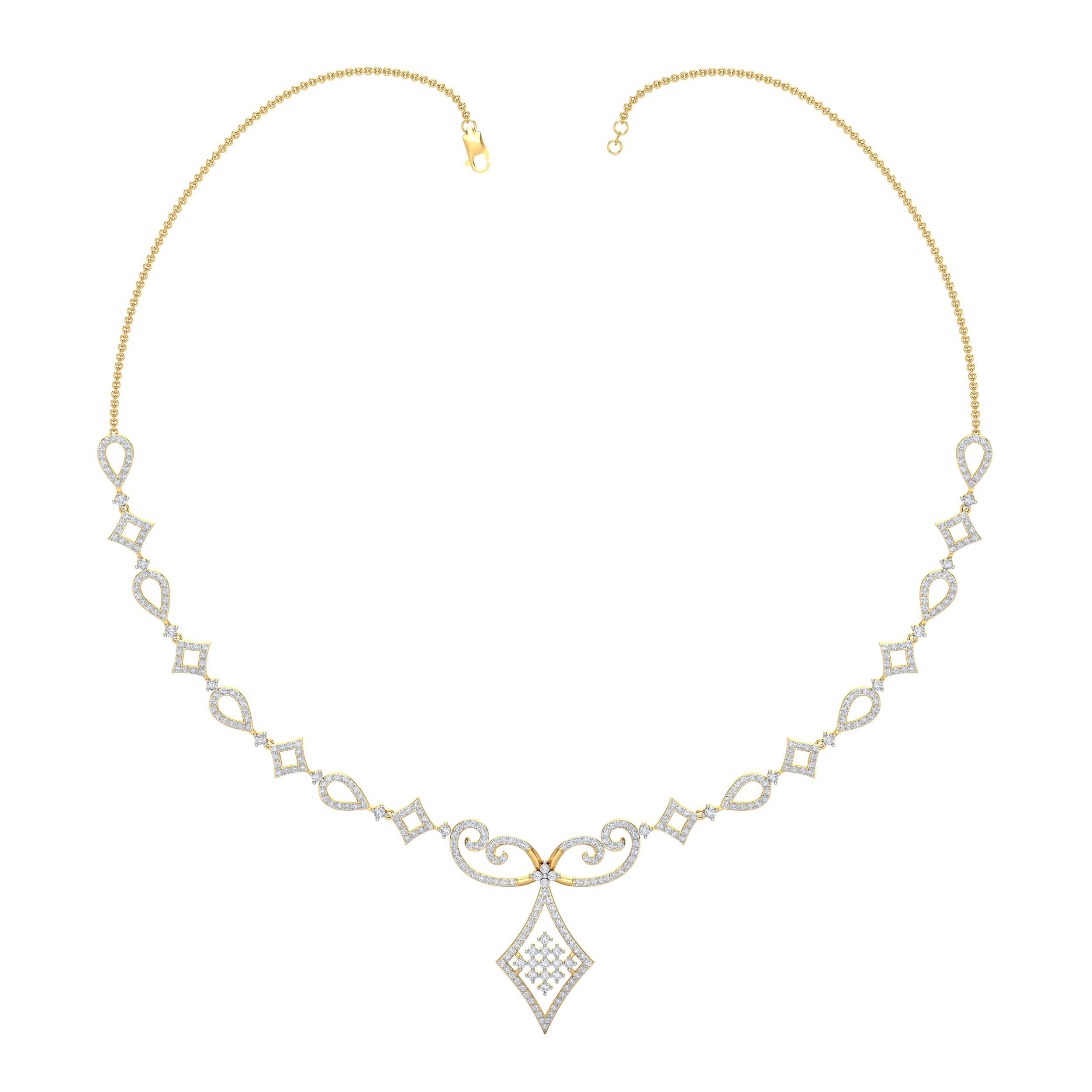 yellow fancy product aliel diamond necklace intense