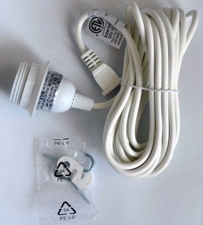 Ikea R Hemma Cord Set 15 5 Long With 2 Ceiling Hooks Ceiling Pendant Pendant Ceiling Lamp Ceiling Hooks