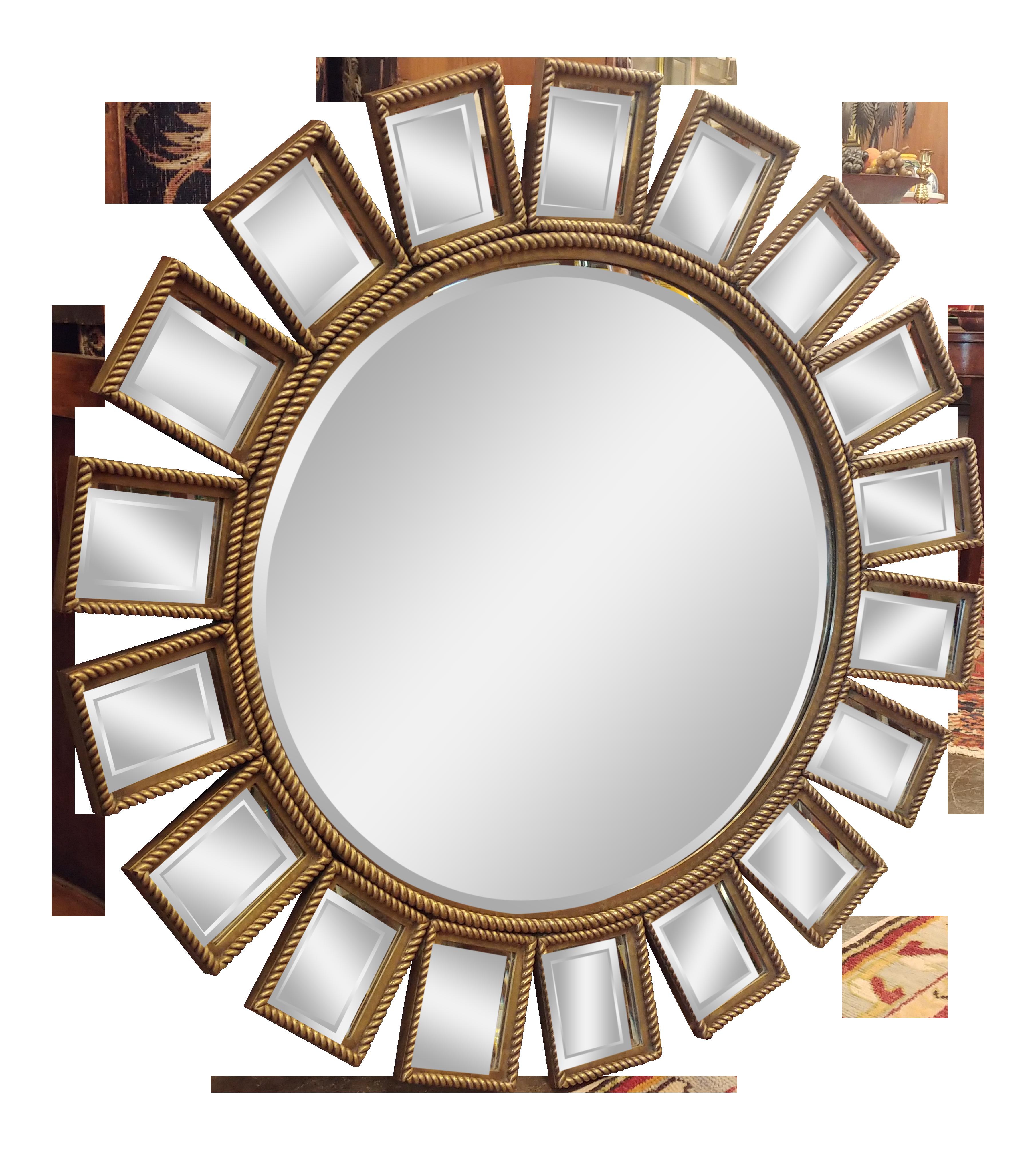 Mid-Century Modern LaBarge Starburst Mirror on Chairish ...