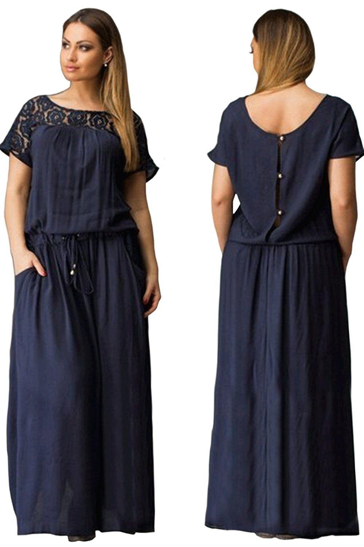 9bada30c9e9 Zumeet women pleated cord fastening waist loose dress navy