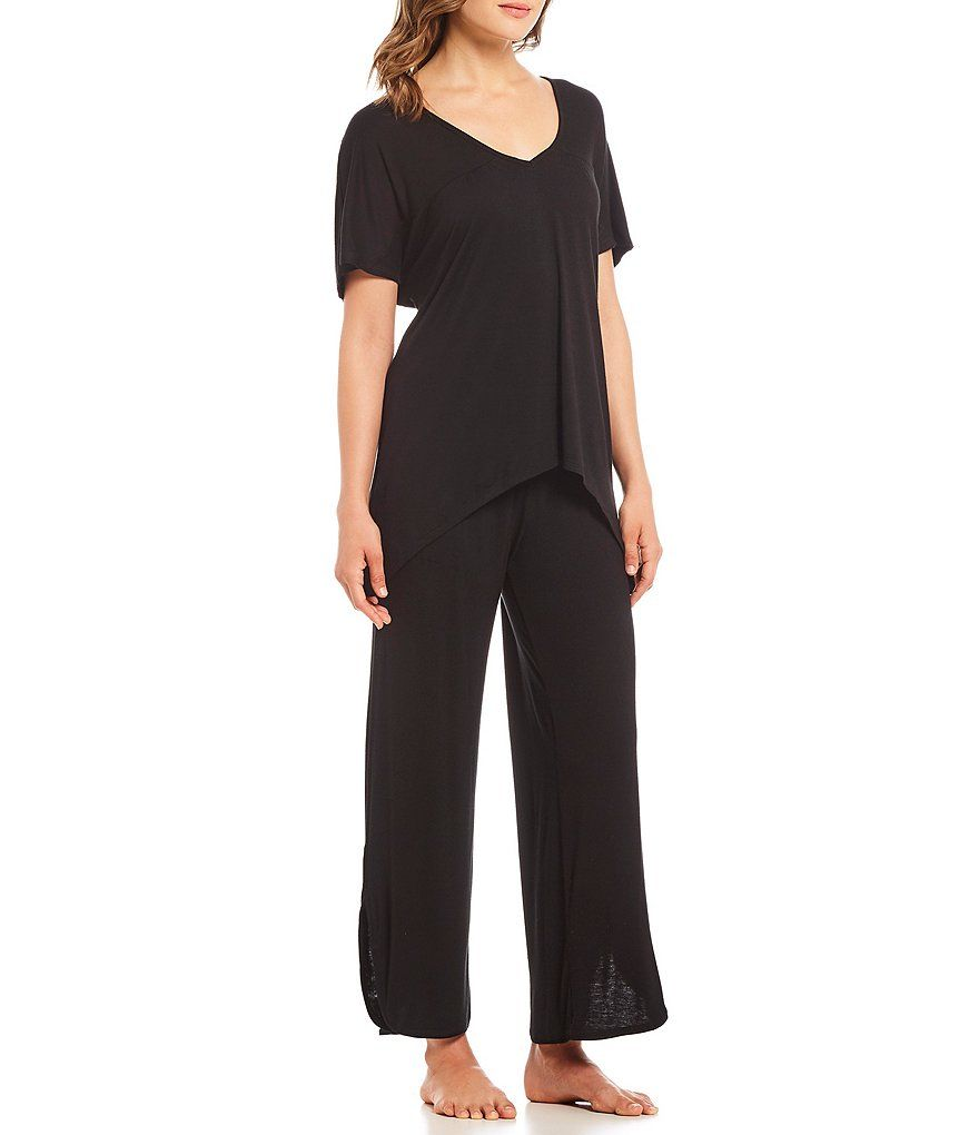6592444d6e H Halston Solid Jersey Sleep Top  Solid