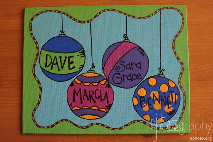 Gonna Try This Next Christmas So CuteTrendy Treehouse Super Cute Canvas Painting DIY