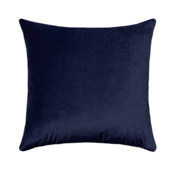 12X20 Pillow Insert Pillow Cover Navy Velvet Fabric Midnight Navy Pillow With Same