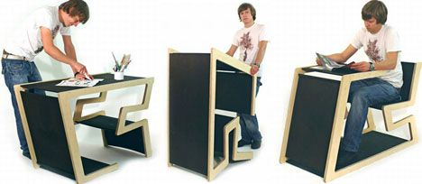 Convertible Furniture easily transforming table, desk, chair and podium | convertible