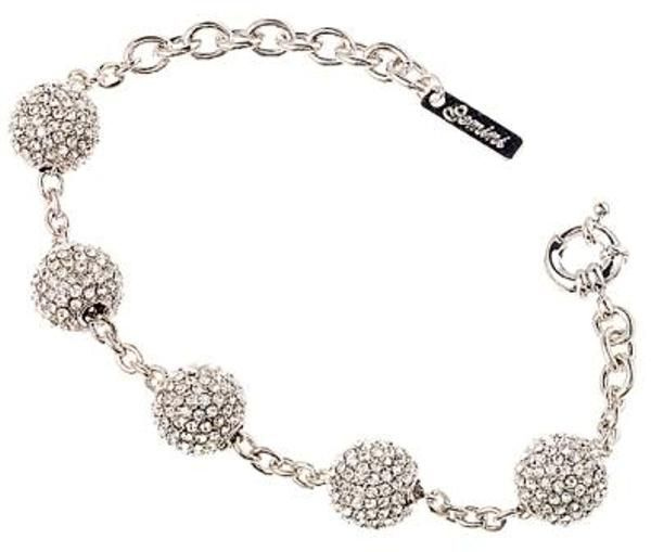 from ae swarovski buy with crystals her bracelet silver jewellery princess charm and embellished black