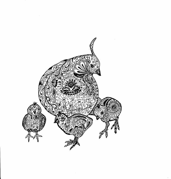 Laurie Kollasch S Quail Family Inspired By You Bird Coloring