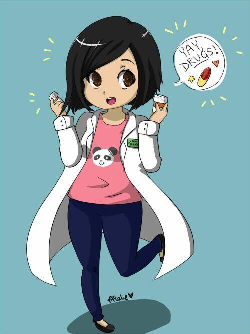 Hehehhe Pharmacy Art Girls Cartoon Art Pharmacy Student Cool cartoon student images wallpaper
