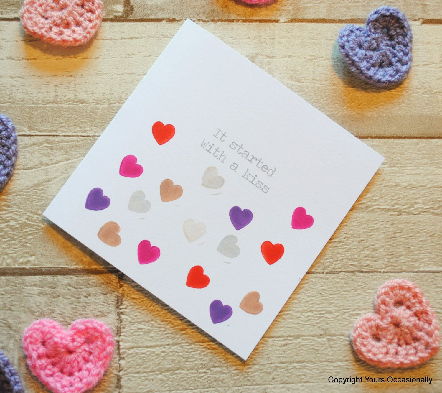 it started with a kiss valentine's day cardlove card