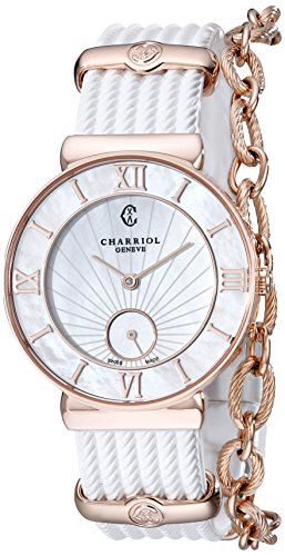 Charriol StTropez Infinite Summer Ladies MotherofPearl Dial Watch ST30PI174010 ** Click on the image for additional details.