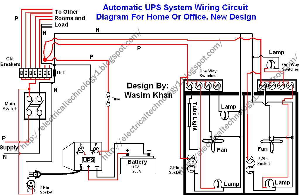 Automatic UPS system wiring circuit diagram (New Design Very simple ...