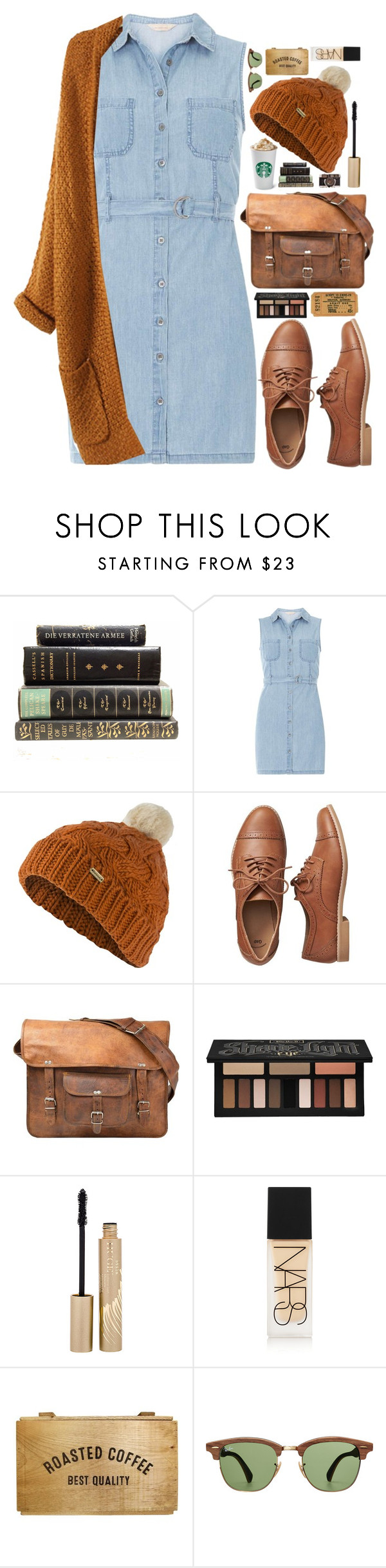 """""""Careful"""" by ellac9914 ❤ liked on Polyvore featuring Dorothy Perkins, Barbour, Gap, CO, Kat Von D, Stila, NARS Cosmetics, Ray-Ban, Fall and orange"""