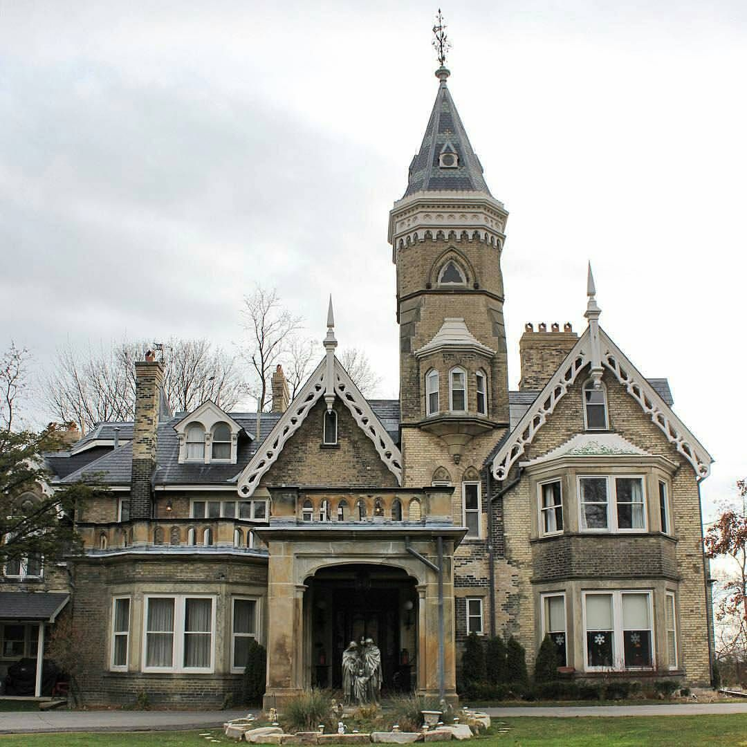 Archi Ologie On Instagram Fluff Your Feeds Friday This House Has It All Thanks For Taggin Gothic Revival Architecture Toronto Architecture Gothic House