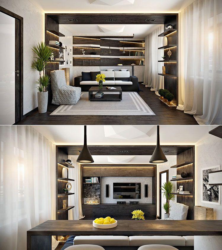Arredare un open space cucina soggiorno rustico 03 | Interior ...