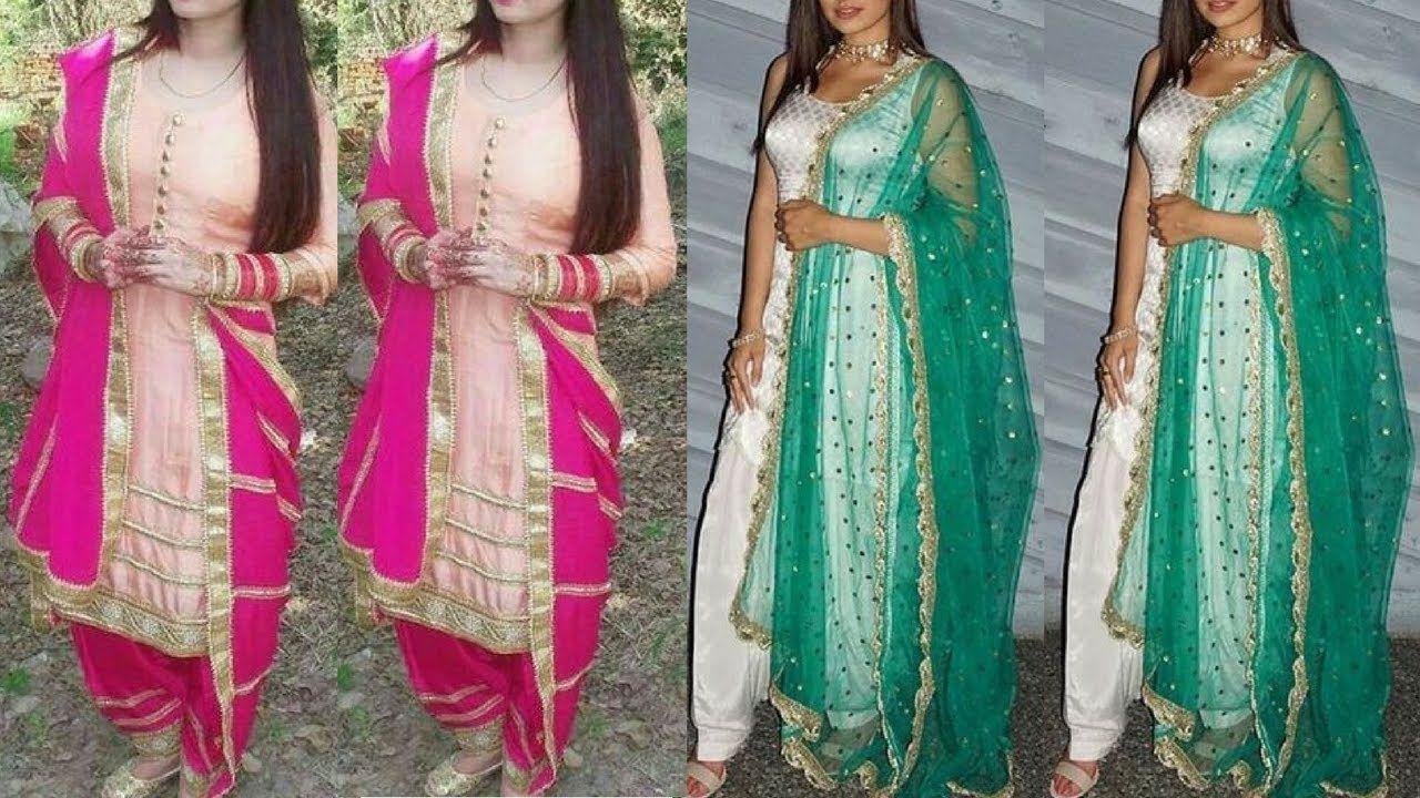 Party Wear Punjabi Suit designs 2018 || Latest Party Wear Punjabi ...