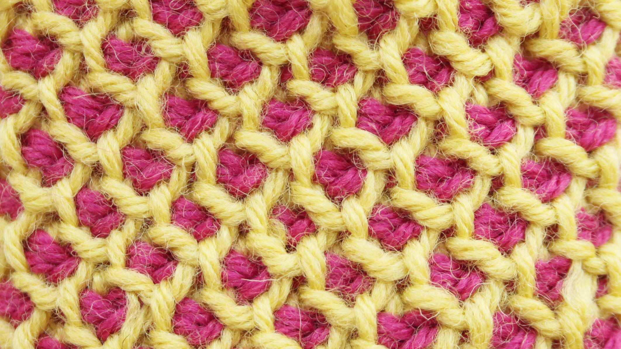 Tunisian crochet honeycomb stitch in the round | ganxet | Pinterest ...