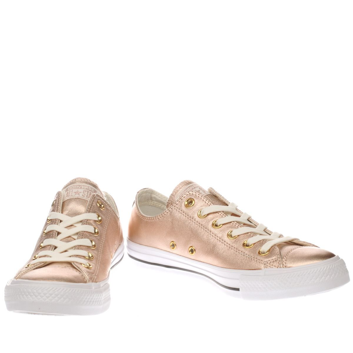 0b5816f098 womens converse rose gold all star metallic leather ox trainers