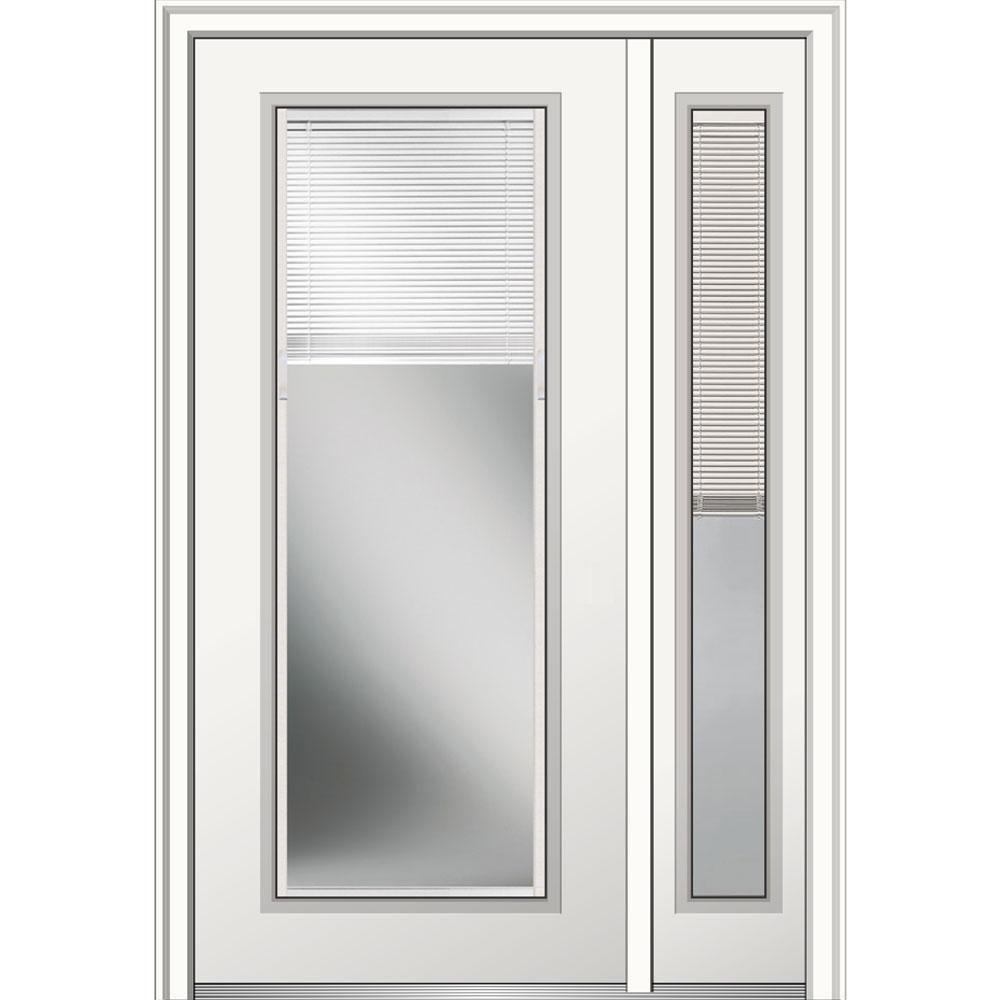 Mmi door in x in internal blinds righthand fulllite primed