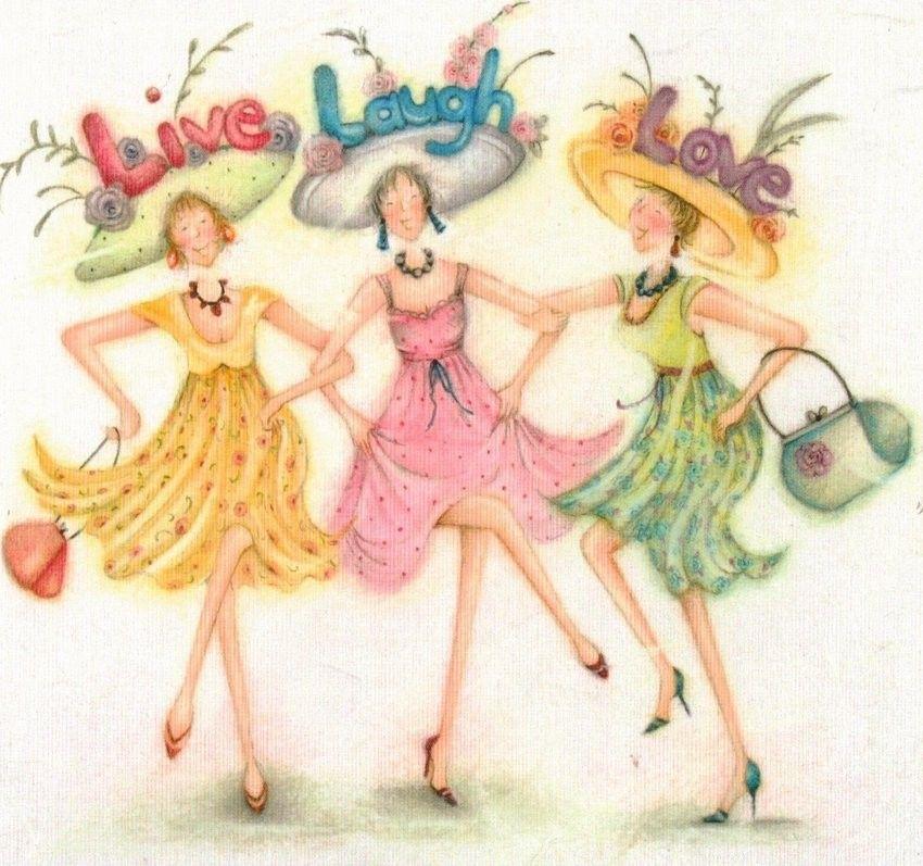 Live laugh love female birthday card ladies who love life ladies live laugh love female birthday card ladies who love life m4hsunfo