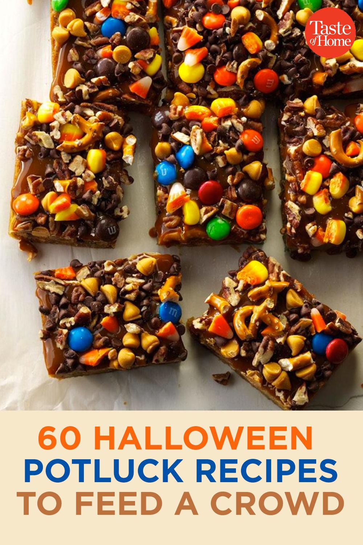 60 Halloween Potluck Recipes to Feed a Crowd #halloweenpotluckideas