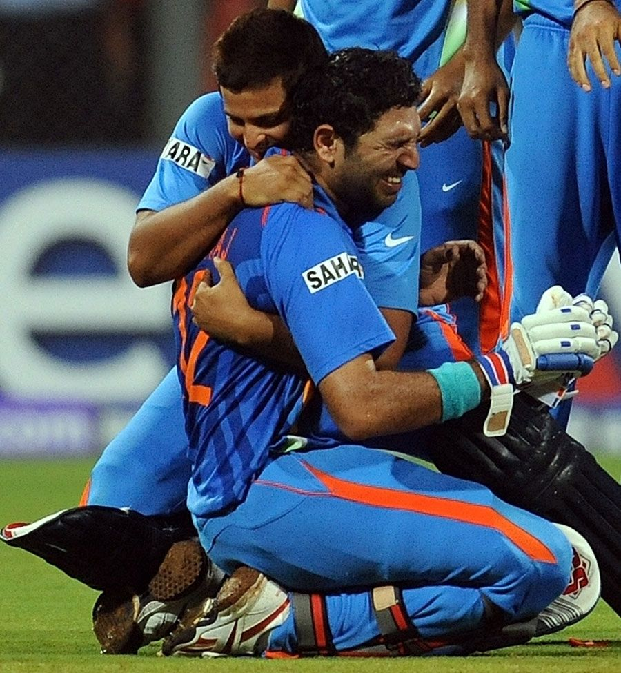 Emotions Running Wild Yuvraj Singh India Cricket Team World Cricket