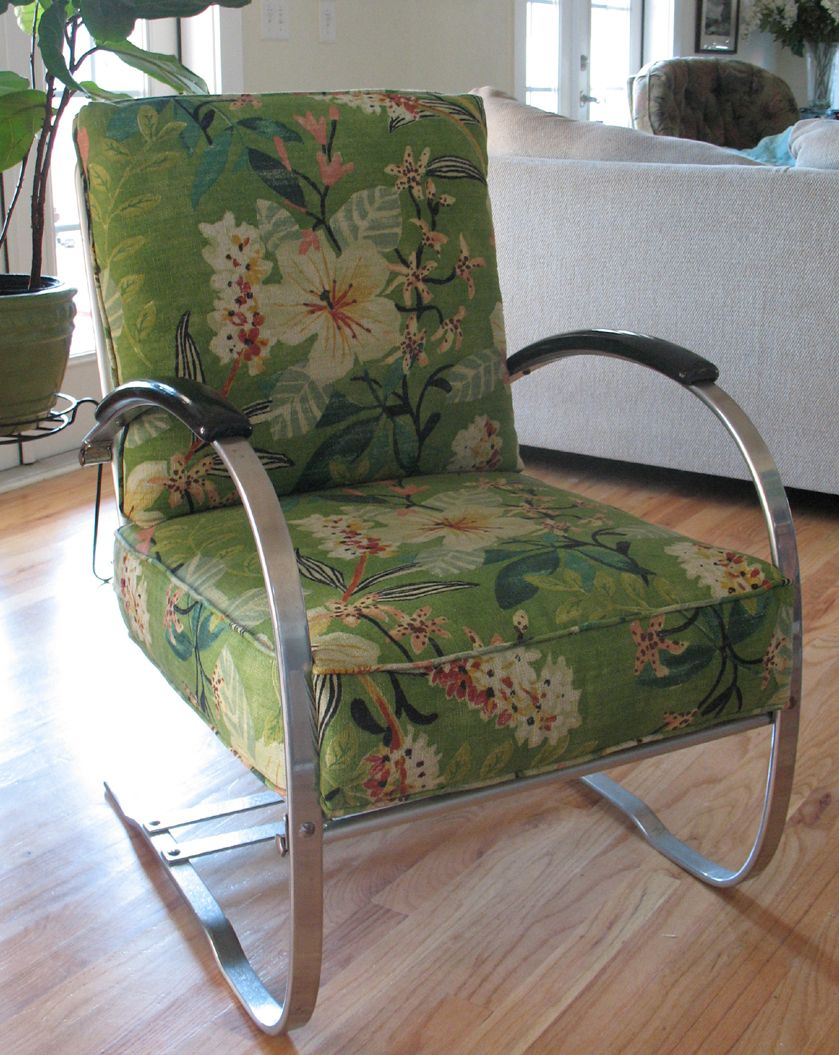 Magnificent Chrome Powder Coated 1930S Howell Bouncer Cushioned With New Pdpeps Interior Chair Design Pdpepsorg