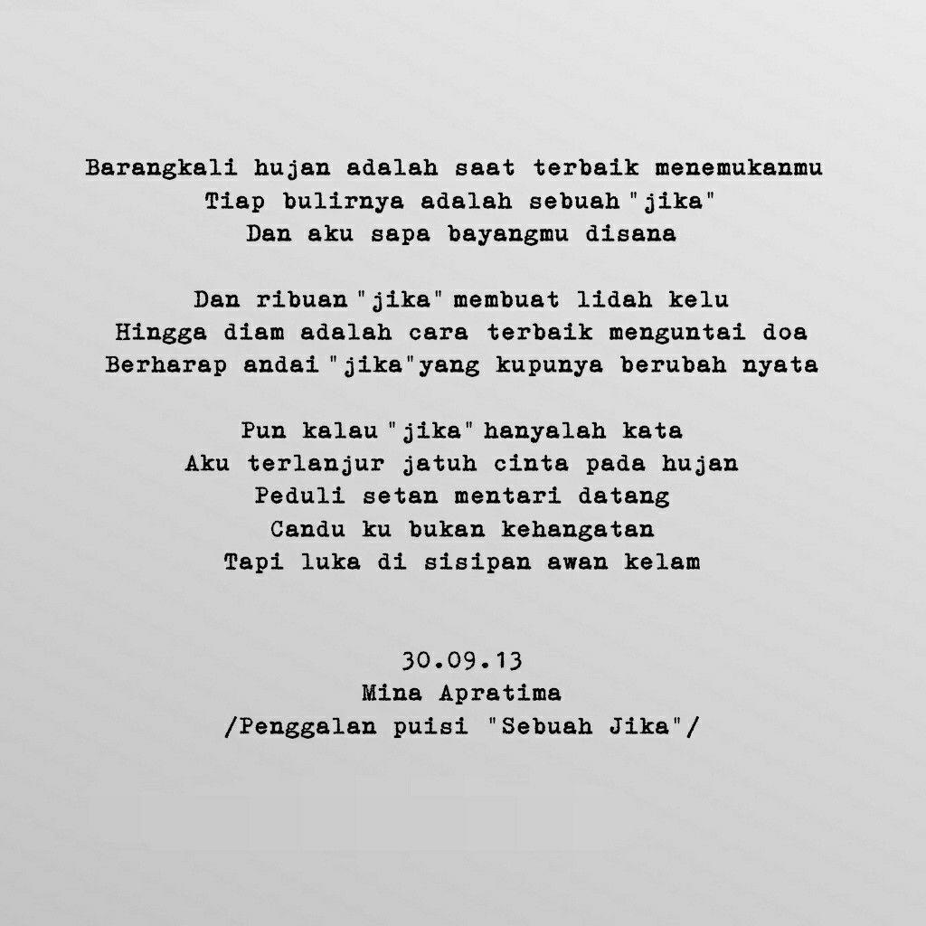 Puisi Sajak Syair Quotes Sajak Doa Jatuh Cinta