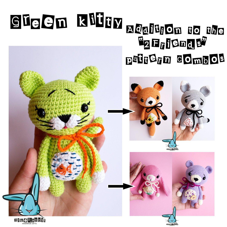 Amigurumi kitten pattern addition to the 2friends crochet