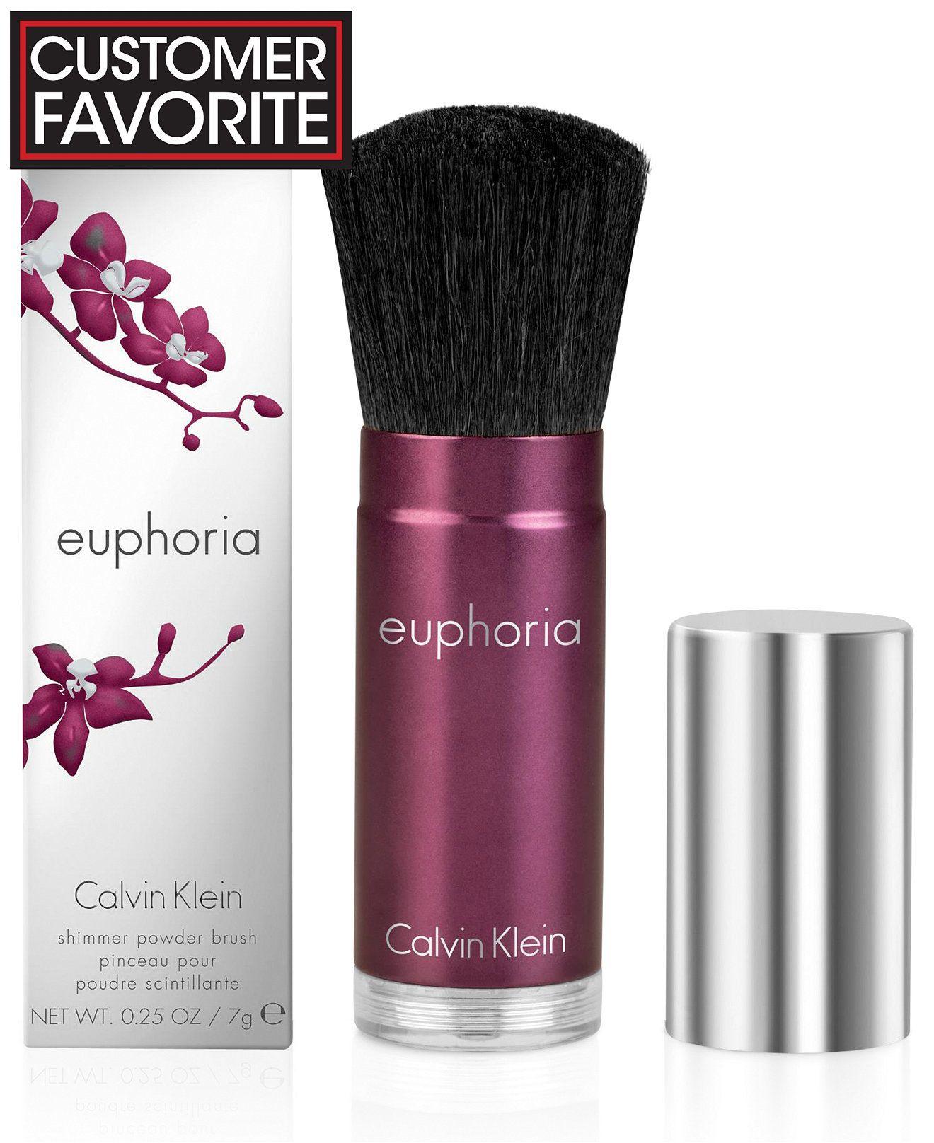 5979695402 Calvin Klein euphoria Shimmer Powder Brush - Perfume - Beauty - Macy s