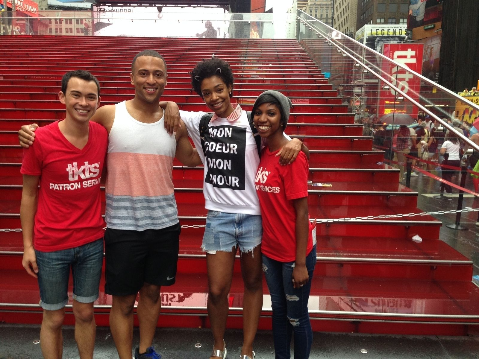 Cast members from The Lion King visited TKTS! | TKTS Times Square ...