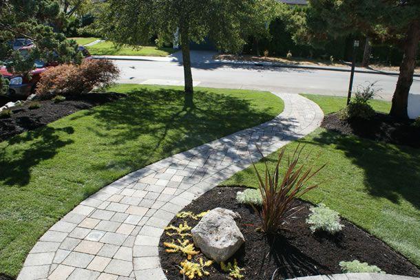 Curb Appeal Sidewalk Landscaping Front Yard Walkway Front Yard Landscaping