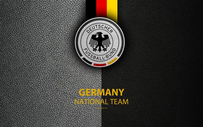 Download Wallpapers Germany National Football Team 4k Leather Texture Emblem Logo Football Germany Europe Alemanha Futebol Selecao Alema De Futebol Times De Futebol