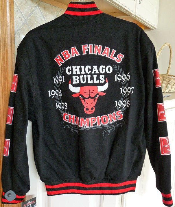 JH Design Chicago Bulls Commemorative Cotton Twill Jacket